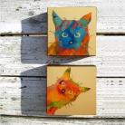 Obrazy koty,abstrakcja,kolor