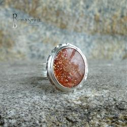kamień słoneczny,pierścionek,elegancja - Pierścionki - Biżuteria