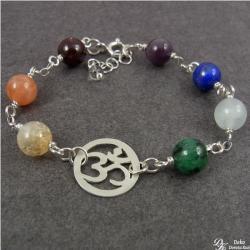 mantra,om,symbol,joga,7czakr,czakramy - Bransoletki - Biżuteria