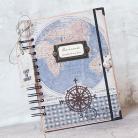 Notesy notes,dziennik podróżnika,a5,męski,podróż