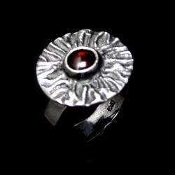 granat,blask,srebrny,czerwień,srebro,królewski - Pierścionki - Biżuteria