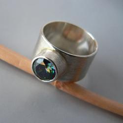 obrączka,z cyrkonią,mystic - Pierścionki - Biżuteria