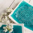 Ceramika i szkło patera,talerz,ceramika,koronka,turkus