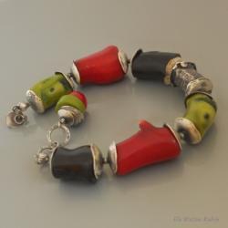 artystyczna,bransoleta,ręczna robota,ela rubin - Bransoletki - Biżuteria