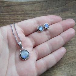 delikatny,drobny,koronkowy,romantyczny - Komplety - Biżuteria