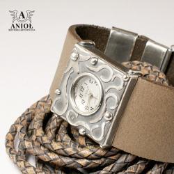 zegarek srebrny,zegarek damski,bransoleta - Inne - Biżuteria