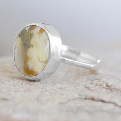 bursztyn,pierścionek z bursztynem,inimalistyczny - Pierścionki - Biżuteria