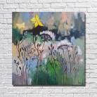 Obrazy łąka,akryl,motyle