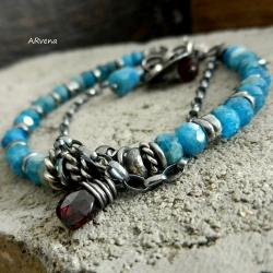 letnia bransoletka,niebieska bransoletka - Bransoletki - Biżuteria