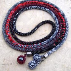 lariat,długi,sznur,naszyjnik,bransoletka - Naszyjniki - Biżuteria
