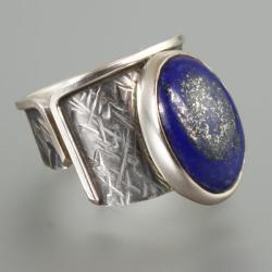 pierścionek z lapisem - Pierścionki - Biżuteria