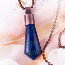 lapis lazuli,miedziany,wisiorek - Wisiory - Biżuteria