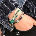 Bransoletki komplet bransolet,koraliki,biżuteria skórzana