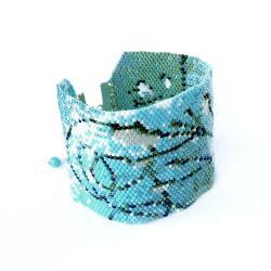 bransoletka,niebieska,pleciona,Extrano - Bransoletki - Biżuteria