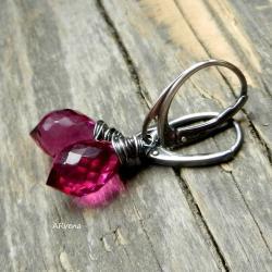 eleganckie kolczyki,różowe kolczyki - Kolczyki - Biżuteria