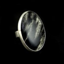 kwarc,srebrny,okazały,turmalin,mineralny - Pierścionki - Biżuteria