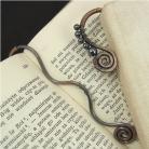 Zakładki do książek zakładka do książki,hematyt,szara,męska,miedź,