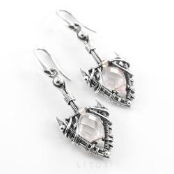 kolczyki,kwarc,litori - Kolczyki - Biżuteria