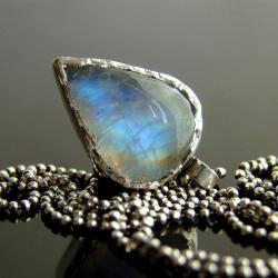 kamień księżycowy,naszyjnik,srebro,wisior - Naszyjniki - Biżuteria