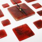 Ceramika i szkło szklany zegar pomysł na prezent design bordo
