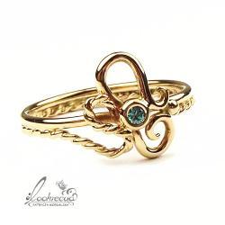 ekskluzywny pierścionek,pierścionek zaręczynowy - Pierścionki - Biżuteria