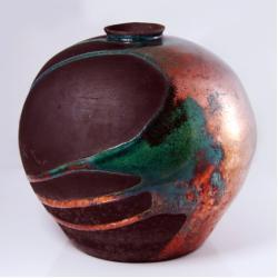 wazon,raku,ceramika - Ceramika i szkło - Wyposażenie wnętrz