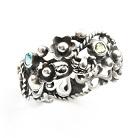 Pierścionki srebrny pierścionek z kamieniami,koronkowy