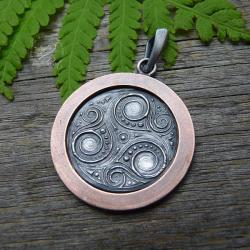 srebrny,miedziany,celtycki,talizman,amulet - Wisiory - Biżuteria