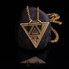 Naszyjniki geometryczny,trójkątny,naszyjnik,mosiężny