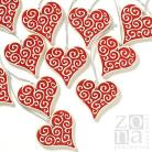 Ceramika i szkło serca,serduszka,zawieszki,czerwone,ceramika