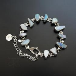 srebrna,bransoletka,z opalem,z kamieniem - Bransoletki - Biżuteria
