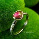 Pierścionki Nehesi,pierścień,srebrny,elfy,delikatny,turmalinem