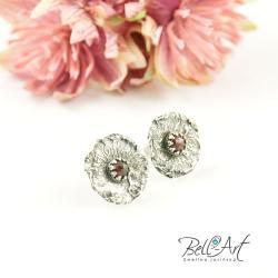 surowe,nowoczesna,koronki, - Kolczyki - Biżuteria