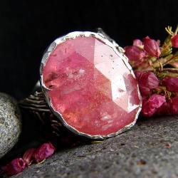 srebro,szafir,pierścień - Pierścionki - Biżuteria