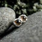 Kolczyki srebro,kwarc dymny,kolczyki,sztyfty