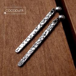 długie,minimalistyczne,nowoczesne,proste,srebrne - Kolczyki - Biżuteria