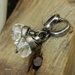 kolczyki z kryształem górskim - Kolczyki - Biżuteria