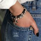 Bransoletki bransoleta z pereł,srebrna biżuteria,komplet