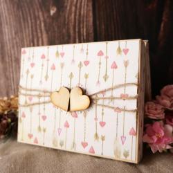 pudełko,na obrączki,obrączki,drewniane - Pudełka - Wyposażenie wnętrz