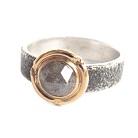 Pierścionki pierścionek z diamentem,fakturowana obrączka