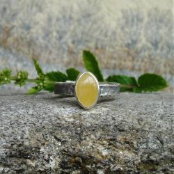 bursztyn,delikatny,pierścionek - Pierścionki - Biżuteria