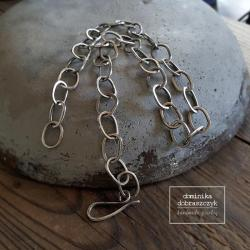 srebro,łańcuch,surowy - Naszyjniki - Biżuteria