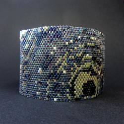 szeroka,brasoletak,grafit,granat,Extrano - Bransoletki - Biżuteria