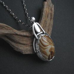biżuteria artystyczna,jaspis,fiann,art clay - Wisiory - Biżuteria