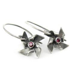 drobne,wiatraczki,wesołe,lekkie - Kolczyki - Biżuteria