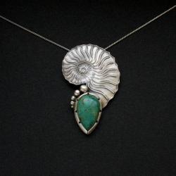 biżuteria artystyczna,unikat,srebrny naszyjnik - Naszyjniki - Biżuteria