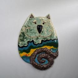 Beata Kmieć,kot ceramiczny,kot,obraz - Ceramika i szkło - Wyposażenie wnętrz