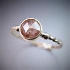 Pierścionki złoty pierścionek z diamentem,żółto-brązowy