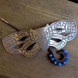 ćma,motyl,szpila,miedź - Broszki - Biżuteria