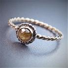 Pierścionki złoty pierścionek z diamentem,zaręczynowy